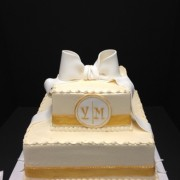 Wedding Cake With Gold