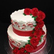 Red Rose Two Tier