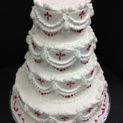 4 Tier Butter Cream With Vintage Scroll Work And Borders