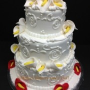 Calla Lily Three Tier