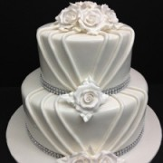 Classic All White Bejeweled