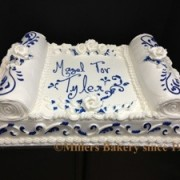Traditional Bar Mitzvah Torah Full Sheet Cake For  The Colonial Inn In Norwood NJ.