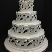 Black and White Evening Wedding