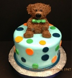 First Birthday With Fuzzy bear Topper