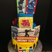 Sweet 16 Broadway Themed Three Tier With Bill board and Play Bill