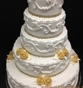 Wedding with Gold Flowers and Trim