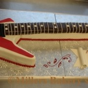Rock On With Actual Size Electric Guitar Cake,Music To Your Taste Buds