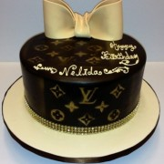 LV with Oversized Gold Bow