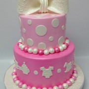 Two Tier Pink Baby Shower
