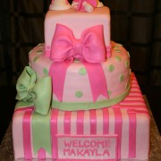 Tier Pink Bow Baby Shower