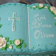 Blue Bible Cake