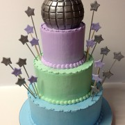 Disco Ball Themed Bat Mitzvah Three Tier With Stars And Disco Ball Topper You May Also Like