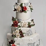 Ice Themed 4 Tier Winter Wedding Cake