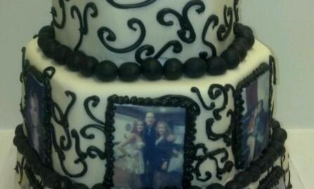 Family Photo 50th Anniversary Cake