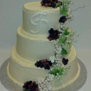 Cascading Grapes and Roses