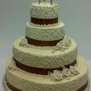 Darker Cream Wedding Cake