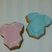 Baby Pink And Blue Onesies Cookies
