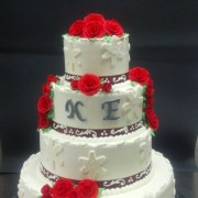 Holiday Themed Wedding Cake