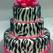 Sweet 16 Zebra Animal Print With Hot Pink Ribbon Topper.Fun Print To Show Your Personality
