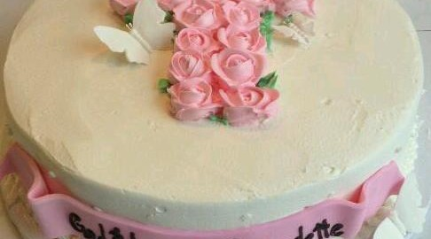 Pink Cross Butter Cream